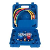 Коллектор манометрический VMG-2-R410A-B (R22, R134a, R410a, R407C, 2-х вент, со шлангами 120см, в кейсе)